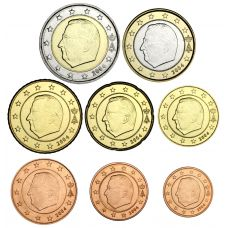 Belgia 2004 1 c – 2 € Irtokolikot UNC
