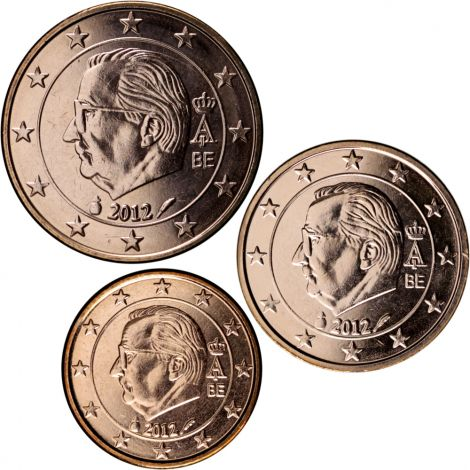 Belgia 2012 1 c, 2 c, 5 c Irtokolikot UNC