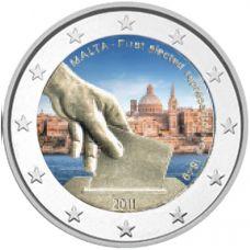 Malta 2011 2 € Vaalit 1849 VÄRITETTY
