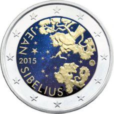 Suomi 2015 2 € Jean Sibelius VÄRITETTY