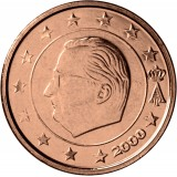 Belgia 2000 2 c UNC