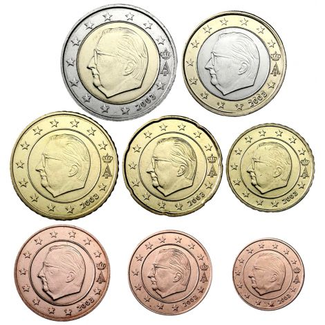 Belgia 2003 1 c - 2 € Irtokolikot BU