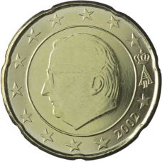 Belgia 2002 20 c UNC