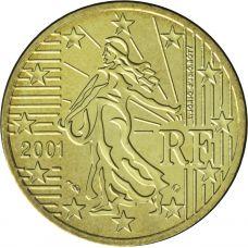 Ranska 2001 50 c UNC