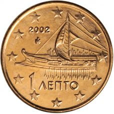 Kreikka 2002 1 c UNC