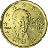 Kreikka 2002 20 c UNC