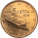 Kreikka 2002 5 c UNC
