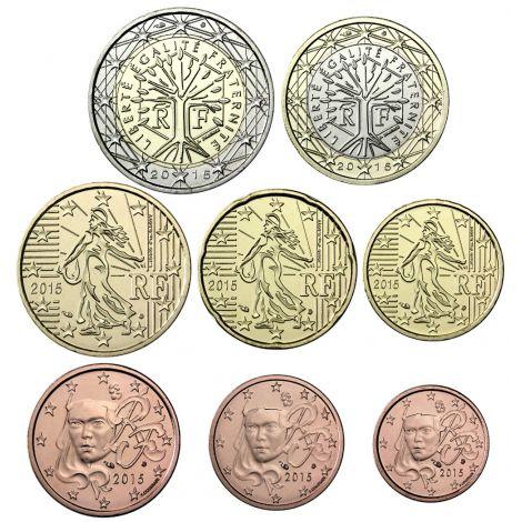 Ranska 2016 1 c – 2 € Irtokolikot BU
