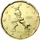 Italia 2002 20 c UNC