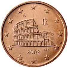 Italia 2002 5 c UNC