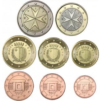 Malta 2017 1 c – 2 € Irtokolikot BU
