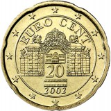 Itävalta 2002 20 c UNC