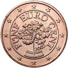 Itävalta 2002 5 c UNC