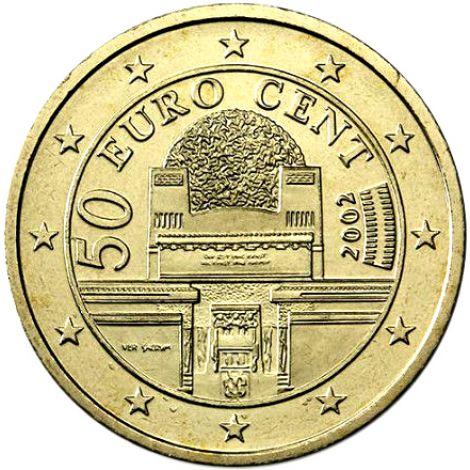Itävalta 2002 50 c UNC