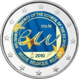 Belgia 2010 2 € Belgian EU-puheenjohtajakausi vuonna 2010 VÄRITETTY