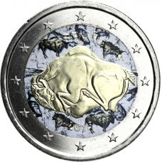 Espanja 2015 2 € Altamira VÄRITETTY