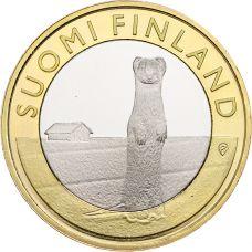 Suomi 2015 5 € Maakuntien eläimet Pohjanmaa UNC