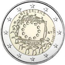 Alankomaat 2015 2 € EU:n lippu 30v UNC