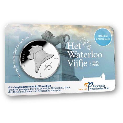 Alankomaat 2015 5 € Waterloo COINCARD BU