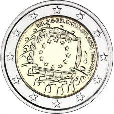 Belgia 2015 2 € EU:n lippu 30v UNC