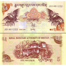 Bhutan 2006 5 Ngultrum P28a UNC