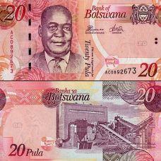 Botswana 2012 20 Pula P31c UNC