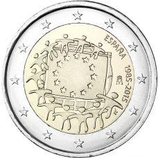 Espanja 2015 2 € EU:n lippu 30v UNC