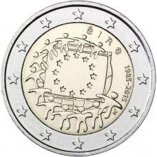 Irlanti 2015 2 € EU:n lippu 30v UNC