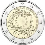 Itävalta 2015 2 € EU:n lippu 30v UNC