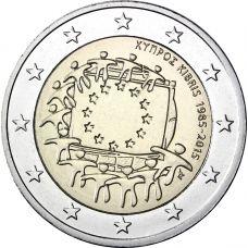 Kypros 2015 2 € EU:n lippu 30v BU
