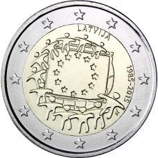 Latvia 2015 2 € EU:n lippu 30v UNC