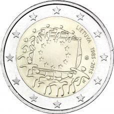 Liettua 2015 2 € EU:n lippu 30v UNC
