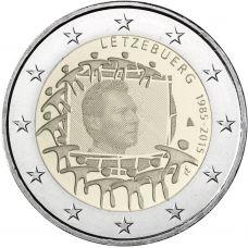 Luxemburg 2015 2 € EU:n lippu 30v UNC