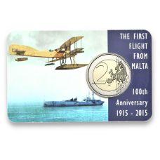 Malta 2015 2 € Ensimmäinen lento 100v COINCARD