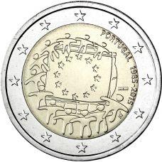 Portugali 2015 2 € EU:n lippu 30v UNC
