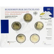 Saksa 2011 2 € Westfalen ADFGJ BU