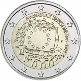 Saksa 2015 2 € EU:n lippu 30v F UNC