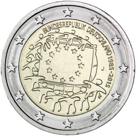 Saksa 2015 2 € EU:n lippu 30v J UNC