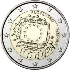 Slovakia 2015 2 € EU:n lippu 30v UNC