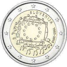 Slovenia 2015 2 € EU:n lippu 30v UNC