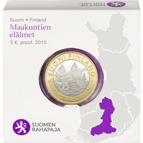 Suomi 2015 5 € Maakuntien eläimet Häme PROOF
