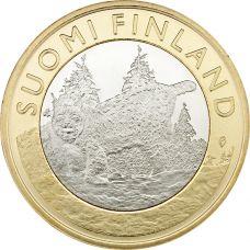 Suomi 2015 5 € Maakuntien eläimet Häme UNC