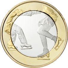 Suomi 2015 5 € Urheilurahat - Taitoluistelu UNC