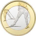 Suomi 2016 5 € Urheilurahat - Hiihto PROOF