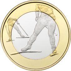 Suomi 2016 5 € Urheilurahat - Hiihto UNC