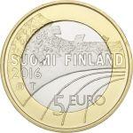 Suomi 2016 5 € Urheilurahat - Jääkiekko PROOF