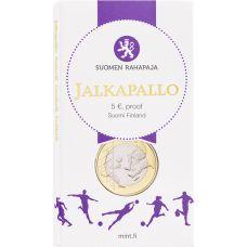 Suomi 2016 5 € Urheilurahat - Jalkapallo PROOF