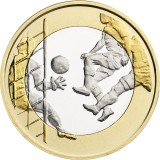 Suomi 2016 5 € Urheilurahat - Jalkapallo UNC
