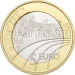 Suomi 2016 5 € Urheilurahat - Mäkihyppy UNC