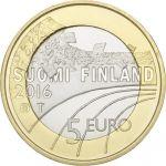 Suomi 2016 5 € Urheilurahat - Yleisurheilu PROOF